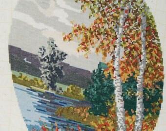 "Tapestry oval gobelin ""Autumn"""