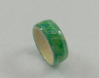 Seafoam Wrapped Paper Ring
