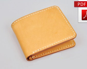 Leather wallet pattern Leather pattern Purse pattern Leather template Leathercraft DIY Wallet with  tutorial