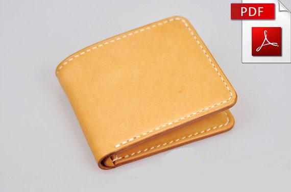 Leather wallet pattern Leather pattern Purse pattern Leather