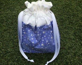 Periwinkle Stars Project Bag (OoaK)