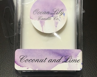 Soy wax melts-Coconut and lime
