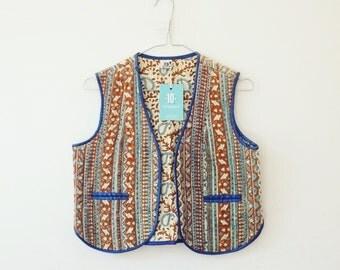 Indian cotton vest jacket XS