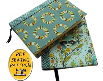 A5 Hobonichi cover sewing pattern, with free tutorial for any size of cover. A5 planner cover pattern, PDF download
