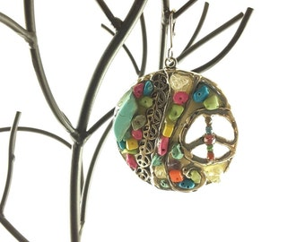 Colorful peace pendant
