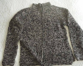 Icelandic lopapeysa with a zipper