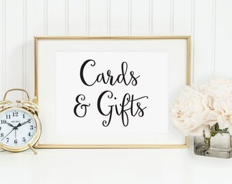 Wedding Cards and Gifts Table Sign, Cards Wedding Sign, Gifts and Cards Sign, Cards Sign for Wedding Cards and Gift Sign, Gift Sign, WCS004