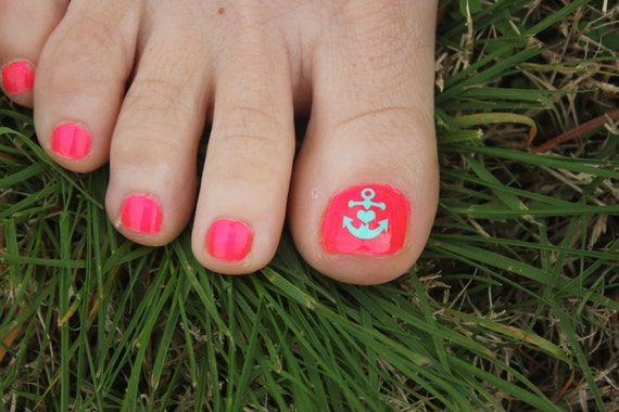 Like this item? - Anchor Toe Nail Decals Toe Nail Decal Anchor Toe Nail Art