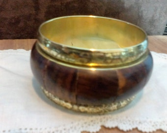 Brass and Wooden Bracelet