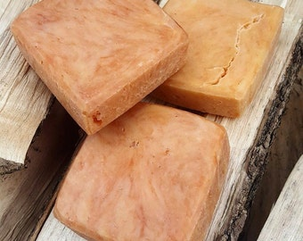 Sugared Papaya Hot Process Soap (Vegan)