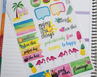 K005 // Hello Summer Decorating Kit - Planner Stickers