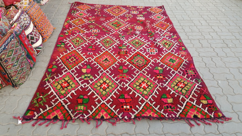 Vintage berber beni mguild rug tapis berbère alfombras