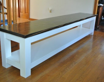 Farmhouse Bench With Shelf