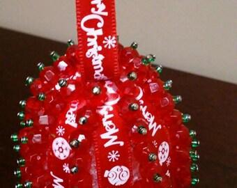 Christmas Ornament - Egg - Red