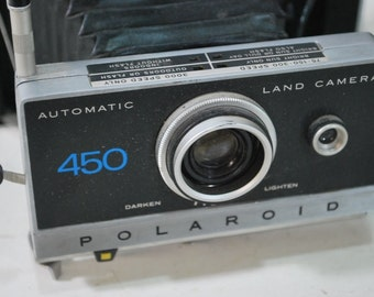 Polaroid 450 Automatic Land Camera, Vintage Polaroid 450, Vintage camera, Polaroid camera, Old polaroid 450, home decor