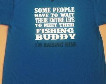 Men's Fishing Shirt, Father Son Fishing Shirt, Fishing Buddy, Father's Day Gift, Dad Gift