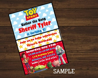 Toy Story Printable Invitation