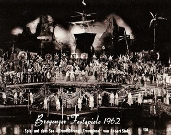 Vintage 60s Black & White Photo Postcard Bregenzer Festspiele 1962 Austria 4x6 Unposted