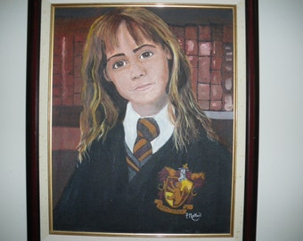 acrylic portrait painting:  Hermione