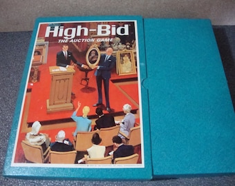 High Bid 1965  The Auction Game Vintage 3M Bookshelf Games Collection Complete
