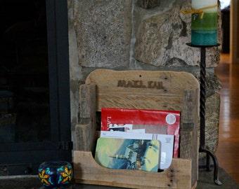 Rustic Wood Mail Organizer