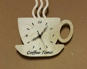 Coffee Cup Wall Clock,Wall Clock,Coffee Cup, Coffe Cup, Coffee lover