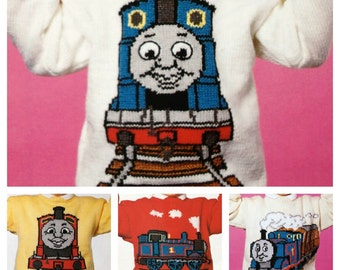 Vintage Pattern Thomas Jumpers adults and childrens Knitting Patterns PDF Download