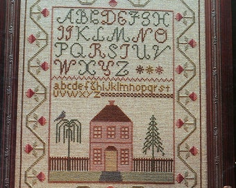 The Cinnamon House Sampler Vintage Needleworks Cross Stitch Kit Linen ABC