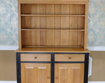 Large Solid Vermont Maple Open Top Country Kitchen ~ Dining Room Hutch Cabinet