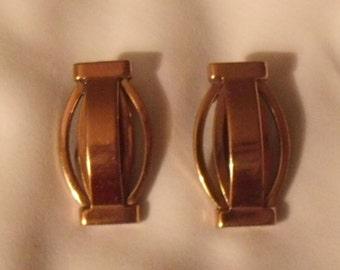 Renoir Mid Century Modern Copper Earrings