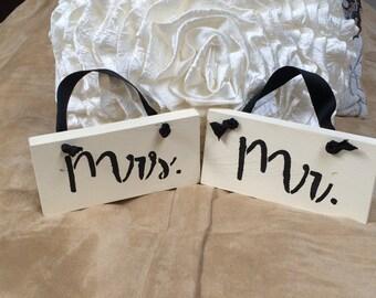 Mr. & Mrs. Wedding Signs