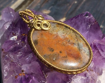 BREATHE (Serenity Series Pendant #3) Wire Wrapped Worry Stone