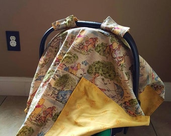 Winnie-the-Pooh and friends carseat cover canopy
