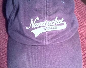 nantucket baseball cap adustable in navy