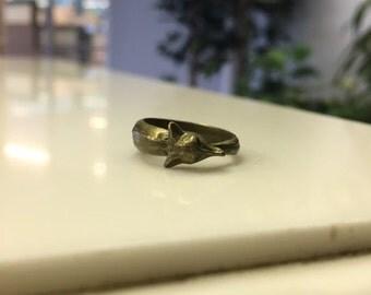 Brass Fox Ring