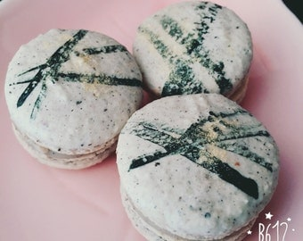 12 Home made French Macarons (unique flavors)