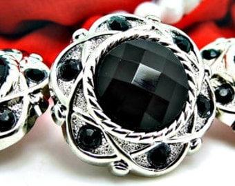 BLACK Rhinestone Buttons Acrylic Rhinestone Buttons Rhinestone Buttons Coat Buttons Fashion Buttons 25mm 3192 1R