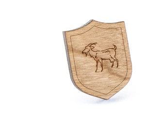 Goat Lapel Pin, Wooden Pin, Wooden Lapel, Gift For Him or Her, Wedding Gifts, Groomsman Gifts, and Personalized