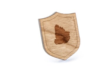 Uruguay Lapel Pin, Wooden Pin, Wooden Lapel, Gift For Him or Her, Wedding Gifts, Groomsman Gifts, and Personalized