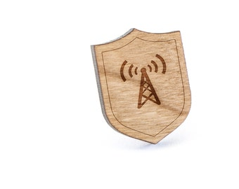 Network Lapel Pin, Wooden Pin, Wooden Lapel, Gift For Him or Her, Wedding Gifts, Groomsman Gifts, and Personalized