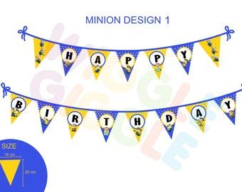 Minion 01 Bunting Flag