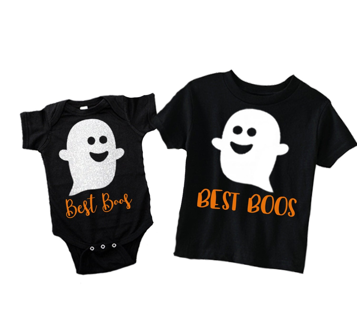 Halloween Brother and Sister Matching Shirts Ghost Halloween