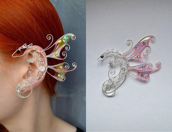 609d2708a82767 dragon ear cuff, dragon wings, ear cuff, earrings wings, gifts, dragon