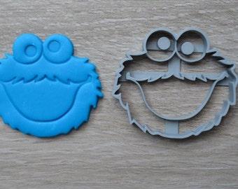Cookie Monster Sesame Street Cookie Cutter Fondant Cutter