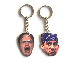 Dwight Schrute & Michael Scott Inspired Keychains : The Office Keychains #1