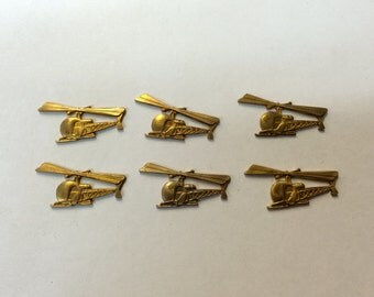 Brass Stamping - Brass Helicopter - Set of 6