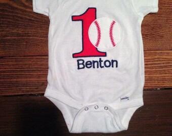 First birthday baseball shirt