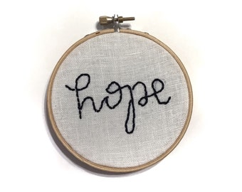 HOPE | Letter Embroidery