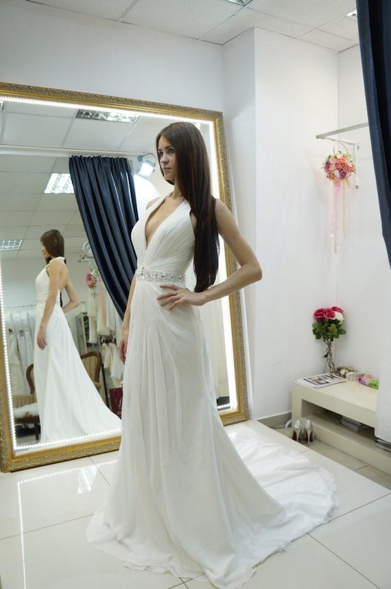 Neckholder Kleid chiffon Strand Brautkleid Hochzeit
