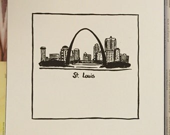 St. Louis Skyline Painting